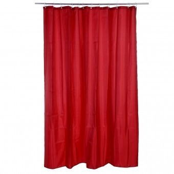 S5-RIDEAU DOUCHE POLYESTER ROUGE