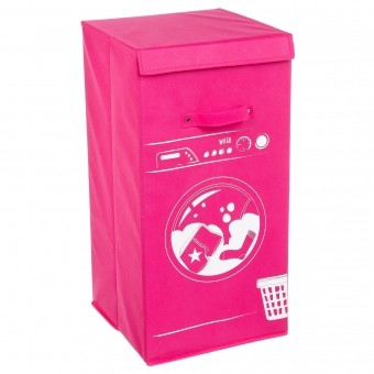 S5-PANIER A LINGE MACHINE ROSE
