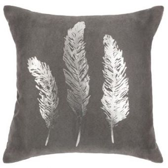 COUSSIN PLUME GOLD SILVER 40X40CM