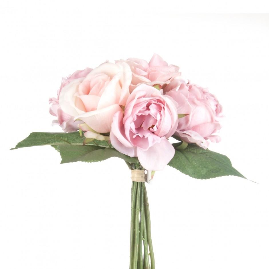 luxe decors - bouquet roses anciennes h30cm