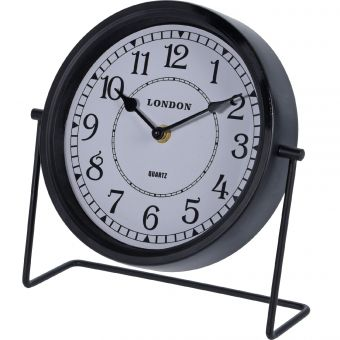 HORLOGE DE TABLE METAL NOIR